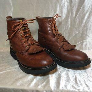 Ariat ATS Lace Up Kiltie Roper Boots Size 7
